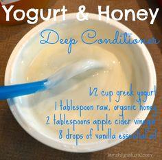DIY Hair Moisturizer Recipes ~ Video | Yogurt & Honey Deep Conditioner Recipe (Homeschool Edition!)