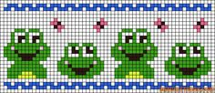 Alpha friendship bracelet pattern added by butterfly frogs spring happyness. Crochet Owl Hat, Pixel Crochet, Fair Isle Knitting Patterns, Knitting Charts, Cross Stitch Designs, Cross Stitch Patterns, Cross Stitching, Cross Stitch Embroidery, Guitar Patterns