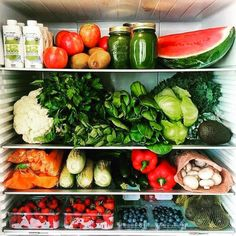 how to organize refrigerator fridge full of produce