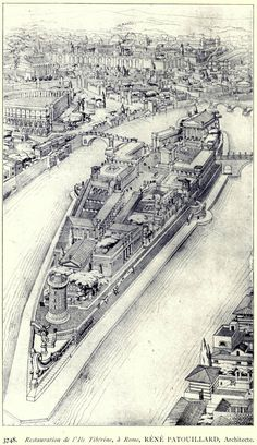 Hypothetical reconstruction of Tiber Island, Rome