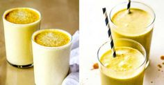 Zdravý vanilkový koktejl se skořicí, zázvorem a kurkumou