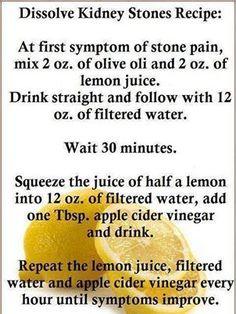 kidney stone flush