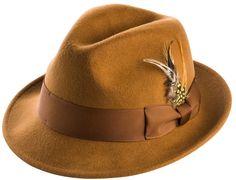 Montique Men's Felt Hat Style #H-10 Color Bronze