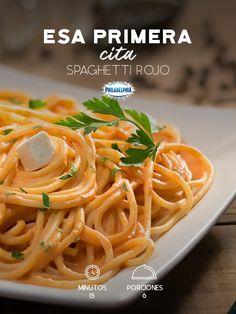 Compartan esa maravillosa primera cita y disfruten de un rico Spaguetti rojo.  #recetas #receta #quesophiladelphia #philadelphia #crema #quesocrema #queso #comida #spaguetti #jitomate #recetaspaguetti #familia #comer #cocinar