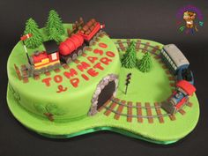 Train cake - Cake by Sheila Laura Gallo Cakes For Boys, Birthday Cake, Trains, Desserts, Facebook, Children, Planes, Food, Tailgate Desserts