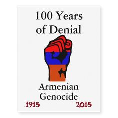 Armenian Genocide Temporary Tattoo Temporary Tattoos #ArmenianGenocide Go to www.zazzle.com/monstervox for more Armenian Genocide products.