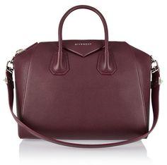 Givenchy Medium Antigona Bag in burgundy textured leather NET-A-PORTER #covetme #givenchy #antigonabag #addcolour #burgandy #designer