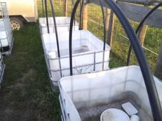 IBC Wicking Garden Beds ready for gravel - YouTube