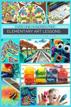 Over one hundred visual arts lessons to use in your home school or classroom.  Printmaking, painting, drawing, three dimension lessons as well as dozens and dozens of free printables!