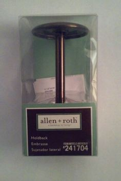 Lot of 6 ALLEN + ROTH Curtain Single Post Bronze Holdback #AllenRoth #CurtainHoldback #SinglePostCurtainHoldback