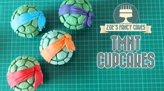 How to make quick and easy TMNT cupcakes. I have made each characters shell ( Leanardo, Raphael, Michelangelo and Donatello ) in a slightly different shade o...
