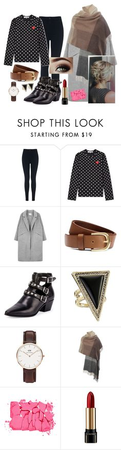 """Ootd#27"" by luludedid on Polyvore featuring Miss Selfridge, H&M, Yves Saint Laurent, House of Harlow 1960, Daniel Wellington, Paul Smith, NARS Cosmetics and Lancôme"