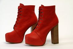 Di Mannuk shoes, Miss Vicky-Red. $178.00, via Etsy.