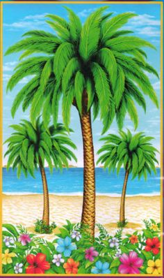 6ft Tropical Beach Palm Tree Door Cover Mural Wall Hanging Luau Party Decoration | eBay  $4.47