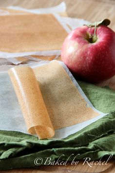 Apple Cinnamon Fruit Leather Recipe - bakedbyrachel.com