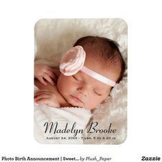 Photo Birth Announcement | Sweet Script Magnet