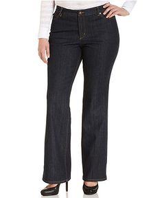 MICHAEL Michael Kors Plus Size Jeans, Sausalito Bootcut, Premiere Indigo Wash - Plus Size Jeans - Plus Sizes - Macy's