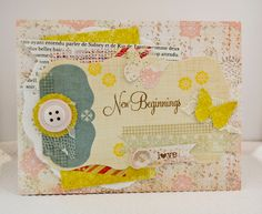New Baby Girl Handmade Card by ThurstonPost on Etsy