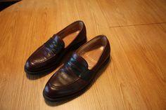 Foot Joy Men's Slip On Penny Loafer shoes Size 10 E  (Wide) Cordovan