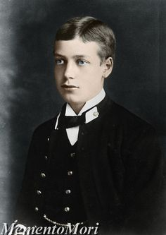 A young King George V, grandfather of Queen Elizabeth.