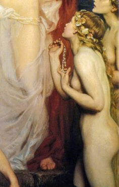 Herbert James Draper - The pearls of Aphrodite (détail)