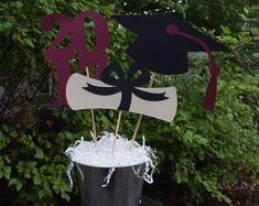 Graduation Party Centerpiece, Graduation Table Decorations, 2018 Graduation Party Decorations *CHOICE OF COLORS*