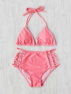 Shop Cutout High Waist Triangle Bikini Set online. SheIn offers Cutout High Waist Triangle Bikini Set & more to fit your fashionable needs.