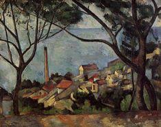 The Sea at l'Estaque, 1878, Paul Cezanne