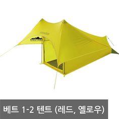 베트 1-2 텐트 ( 스노우라인 캠핑 레드 옐로우 )