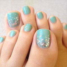 Image viaToenail DesignsImage viaCool & Pretty Toe Nail Art Designs & Ideas For Beginners .Image via Pretty Toe Nail Art D Pretty Pedicures, Pretty Toe Nails, Pretty Toes, Love Nails, How To Do Nails, My Nails, Summer Pedicures, Pedicure Ideas Summer, Summer Toe Nails