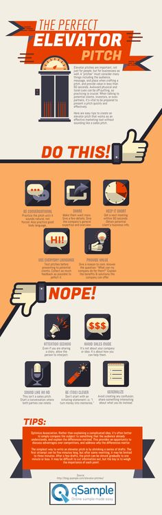 The Perfect Elevator Pitch #infographic #Business #Pitch
