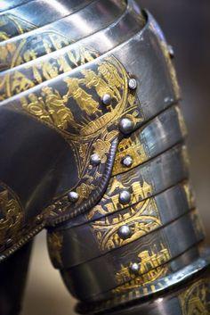 Knight in golden armor by B Baloukas