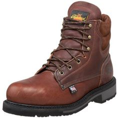 "Thorogood American Heritage 6"" Safety Toe Boot, Walnut, 17 D US - http://authenticboots.com/thorogood-american-heritage-6-safety-toe-boot-walnut-17-d-us/"