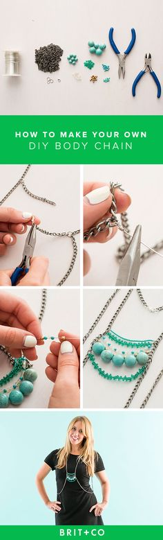 The body chain trend is sticking around, so why not make your own you can even wear to office? Use this tutorial to DIY a beautiful body chain in just 5 steps.