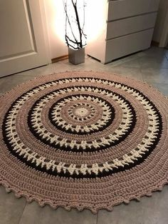 Large crochet doily blue white crocheted doilies beach house table decor navy blue round big doily inches doily beach home decor rustic Crochet Carpet, Crochet Home, Crochet Gifts, Crochet Baby, Shag Carpet, Beige Carpet, Diy Carpet, Tapete Doily, Where To Buy Carpet