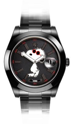 Snoopy Datejust - Bamford Watch Department (BWD) has worked in collaboration with Rodnik on one of the most endearing cartoon characters, Snoopy from the Charles Schultz Peanuts cartoon strip. MGTC Black