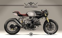 Ducati Monster Cafe Racer design - Wrench 'n' Wheels #motorcycles #caferacer #motos | caferacerpasion.com