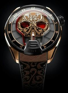 A skull as a time display? The Skull Maori is also of popular dead .- Ein Totenschädel als Zeitanzeige? Die Skull Maori ist ebenso von populärer Tot… A skull as a time display? The Skull Maori is … - Amazing Watches, Beautiful Watches, Cool Watches, Watches For Men, Unique Watches, Beautiful Life, Brm Watches, Fine Watches, Sport Watches