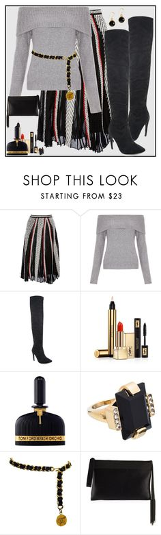 """Onyx Orchid"" by winscotthk ❤ liked on Polyvore featuring Emilio Pucci, New Look, Yves Saint Laurent, Tom Ford, Marni, Chanel and Brunello Cucinelli"