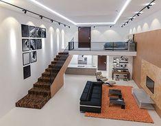 31 Best Home Interior Design (Amazing Is Yours) - Basteln mit kindern Small House Interior Design, Bungalow House Design, Tiny House Design, Modern House Design, Loft Design, Design Case, Design Design, Small Loft Apartments, Loft Spaces