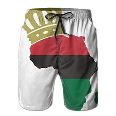 dd237022def4  6.5 - Men s African American Pride Fashion Beach Pant Tide Stamp Shorts  African Print Jumpsuit