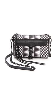 Love at first sight. Faux leather, too! Rebecca Minkoff Mini Mac Cross Body Bag.