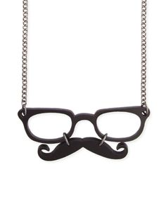 I'd like this. Not so much as a necklace, but instead as an actual glasses and moustache to wear.