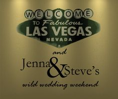 $18 for 30 pcs Custom Gold Las Vegas Peel and Stick Label for Wedding Welcome Bags.  #WeddingWelcomeBags