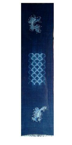 INDIGO SHIBORI + BATIK TULIS. 100% natural cotton.Handspun.Handwoven