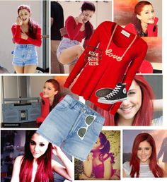 """""""Ariana Grande Style :P"""" by arianna-peluso ❤ liked on Polyvore"""