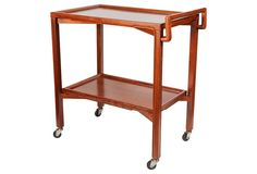 Pin for Later: 40+ Bar Carts That Will Make Your Boozy Dreams Come True  Vintage Maude Woods Teak Bar Cart ($850)