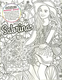 Coloring Pages The Name Sabrina