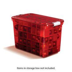 Homz Closet Christmas Ornament Storage Box at Blain's Farm &amp