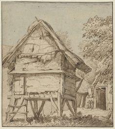 Anthonie van Borssom | Voorraadschuur op palen, Anthonie van Borssom, 1640 - 1677 |